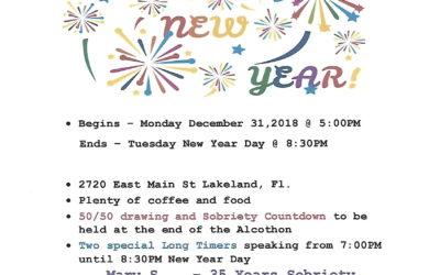 New Year's Alcothon Starts Mon, Dec 31 @ 5pm