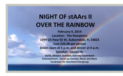 NIGHT of stAArs II: OVER THE RAINBOW Sat., Feb 9 @ 5pm