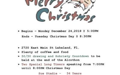 Christmas Alcothon Mon, Dec 24 @ 5pm